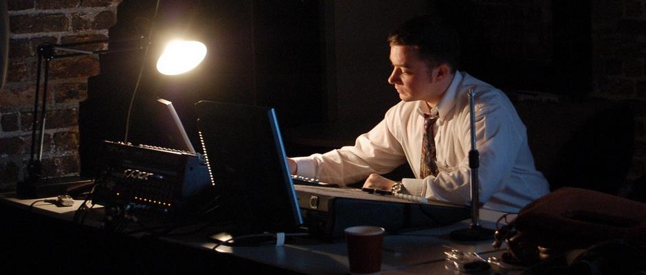 Blogger am Arbeitsplatz
