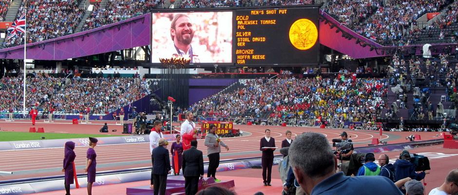 Olympische Medailen fürs Kugelstoßen