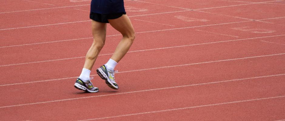 Läufer auf der Bahn