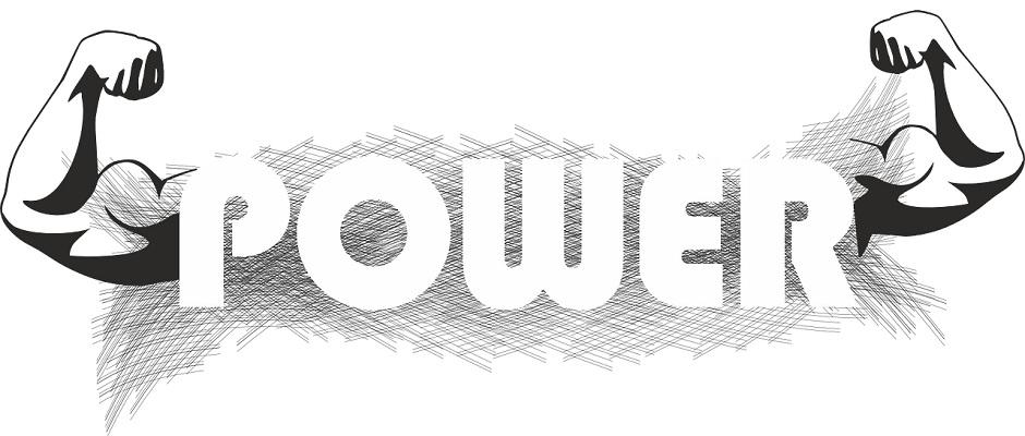 Zeichnung POWER – Bizepsmuskel