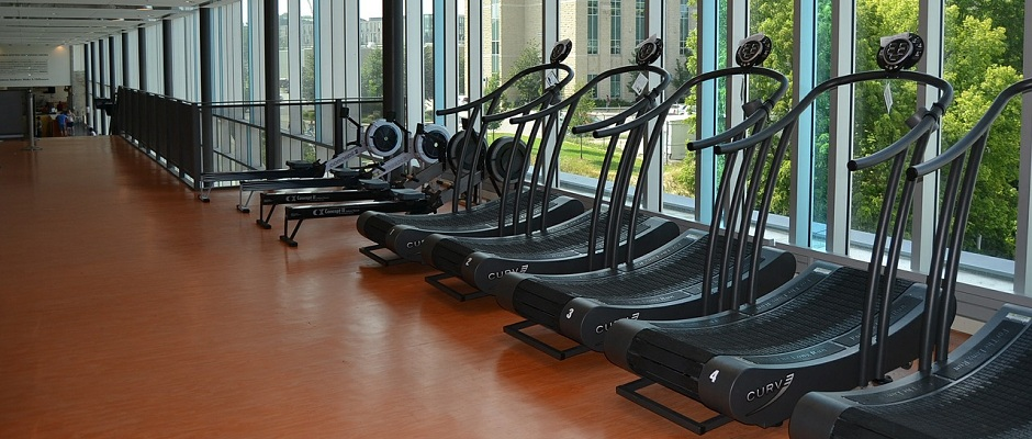 Rudergeräte & Laufbänder im Gym