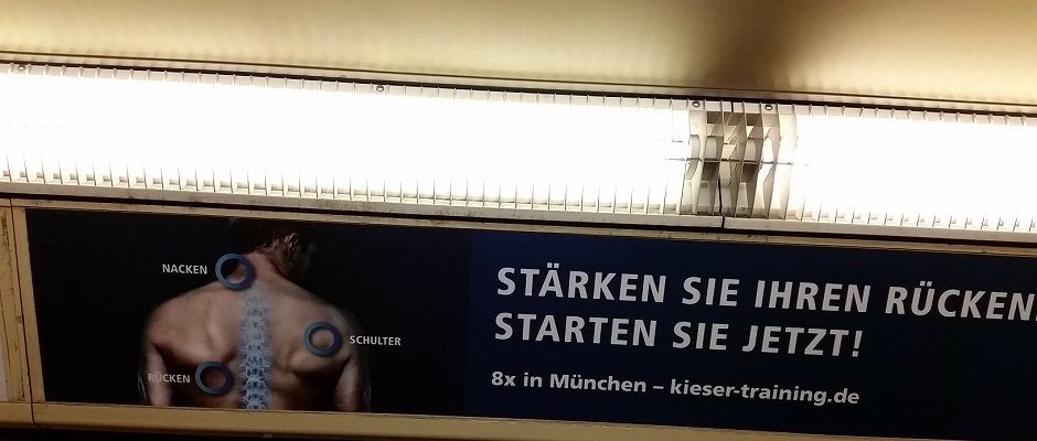 Plakat Kieser Training München