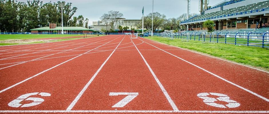 100 m Laufbahn