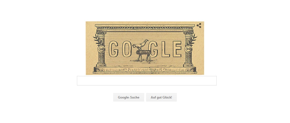 Google Doodle Olympic Games 1896