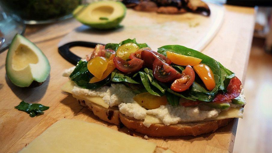 Sandwich mit Gemüse